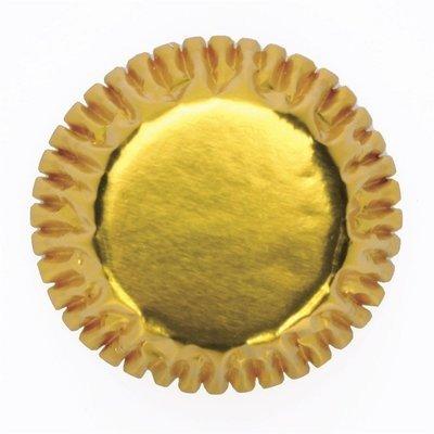 Culpitt Cupcake Cases Metallic Foil MINI GOLD -Μικρές Θήκες Ψησίματος -Μεταλλικό Χρυσό 60 τεμ