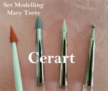 Cerart - Mary Torte Modelling Tools set of 4 - Εργαλεία Σχεδιασμού - σετ 4 τεμαχίων