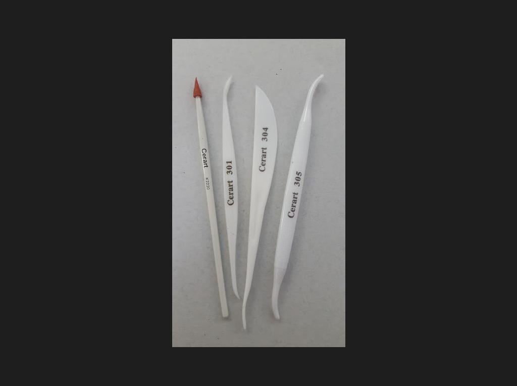 Cerart Set of 4 Tools for Shaping (Plastic) -Εργαλεία Σχεδιασμού 4 τεμ.
