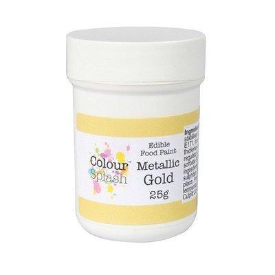 Colour Splash Edible PAINT -METALLIC GOLD -Βρώσιμο Χρώμα Ζωγραφικής -Μεταλλικό Χρυσό 25γρ