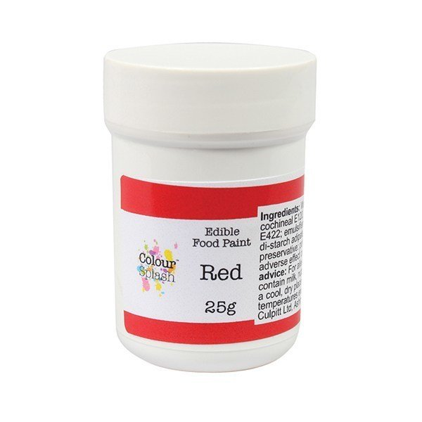 Colour Splash Edible PAINT -MATT RED -Βρώσιμο Χρώμα Ζωγραφικής -Κόκκινο Ματ 25γρ