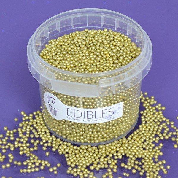 Purple Cupcakes Nonpareils -GOLD 2mm -Χρυσές Βρώσιμες Πέρλες 100γρ