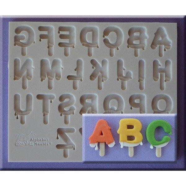 SALE!!! Alphabet Moulds - Lolly Font Mould - Καλούπι Αλφάβητο  - 29x3.5χιλ