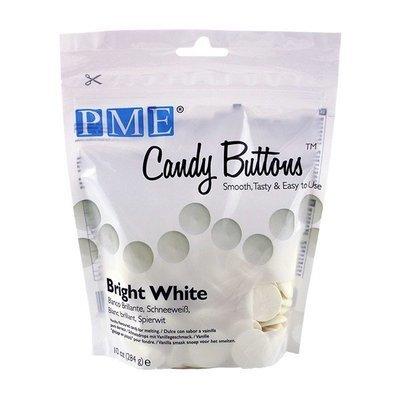 PME - Candy Buttons Bright White Vanilla Flavoured - Κουβερτούρα Γλυκά Κουμπάκια Ολόλευκα με Γεύση Βανίλια - 284γρ