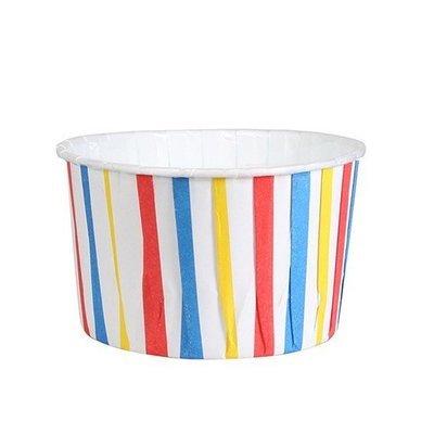 Culpitt Cupcake Baking Cups -STRIPED BLUE, RED & YELLOW -Κυπελάκια Ψησίματος Ριγέ Μπλε Κόκκινο Κίτρινο 24 τεμ
