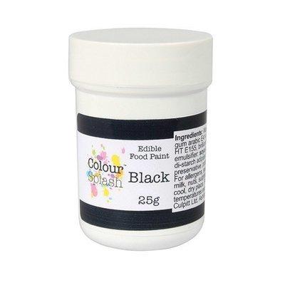 Colour Splash Edible PAINT -MATT BLACK -Βρώσιμο Χρώμα Ζωγραφικής -Μαύρο Ματ 25γρ