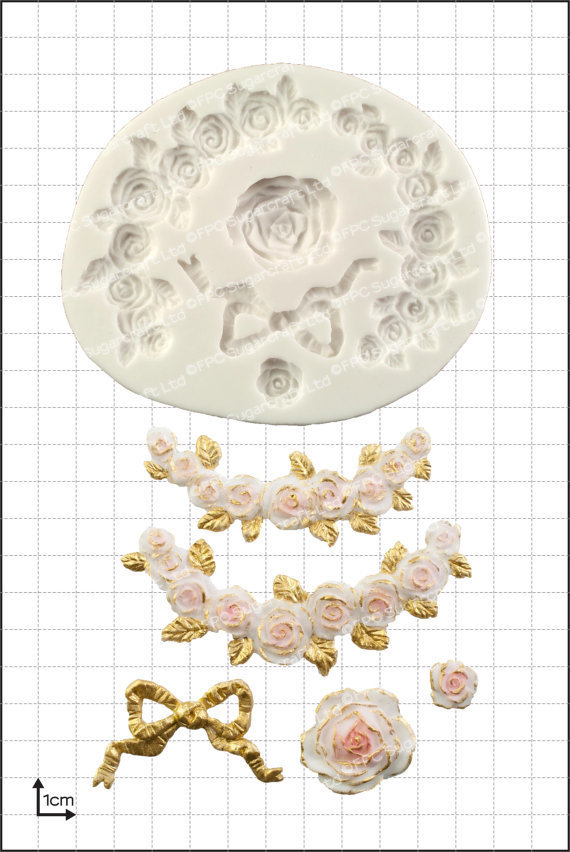 FPC Silicone Mould -ROSE SWAGS -Καλούπι Αναρριχώμενα Τριαντάφυλλα