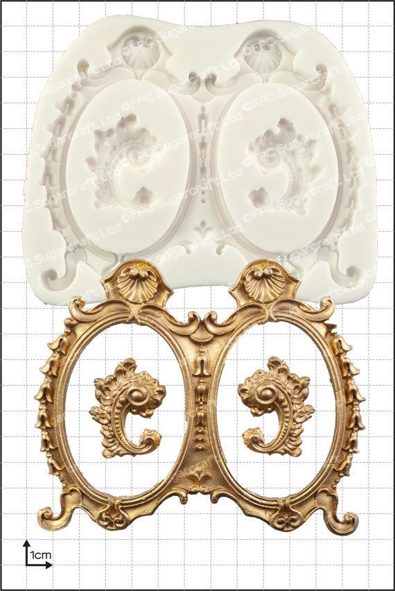 FPC - Large Double Frames Silicone Mould - Καλούπι Μεγάλα Διπλά Κάδρα