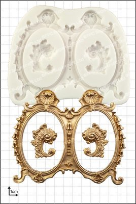 By FPC -Silicone Mould -FRAMES -LARGE DOUBLE -Καλούπι Μεγάλα Διπλά Κάδρα