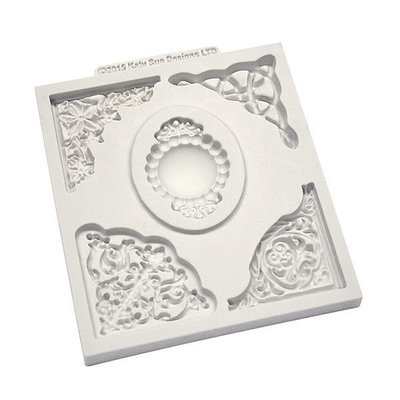 Katy Sue Silicone Mould -DECORATIVE CORNER COLLECTION -Καλούπι με Σχέδιο Γωνίες
