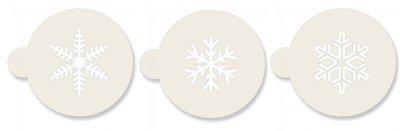 JEM Stencil -Set Of 3 Snowflake Designs -Στένσιλ Χιονονιφάδα 3 τεμ