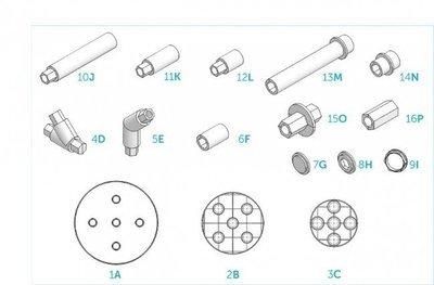 Cake Frame Starter Kit -Βάση Στήριξης Για Πολυόροφες Τρισδιάστατες Τούρτες