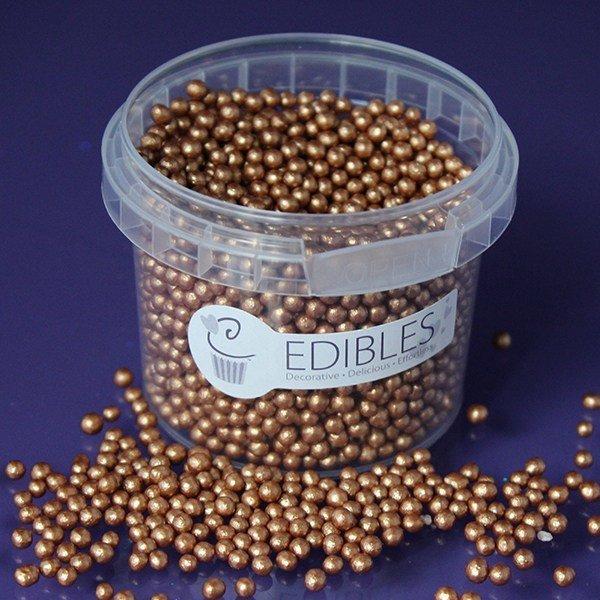 Purple Cupcakes - Bronze Edible Pearls - Μπρονζέ Βρώσιμες Πέρλες - 4χιλ - 80γρ