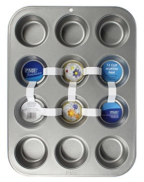 PME Baking Tin for 12 Cupcakes/Muffins -Ταψί για 12 Κάπκεϊκς/Μάφινς