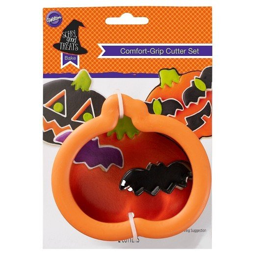 Wilton Halloween Grippy Cutters -Pumpkin & Bat  Κουπάντ ΚΟΛΟΚΥΘΑ-ΜΙΝΙ-ΝΥΧΤΕΡΙΔΑ με λαβή σιλικόνης