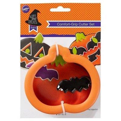 Wilton Grippy Cutters -Pumpkin & Bat  Κουπάντ ΚΟΛΟΚΥΘΑ-ΜΙΝΙ-ΝΥΧΤΕΡΙΔΑ με λαβή σιλικόνης