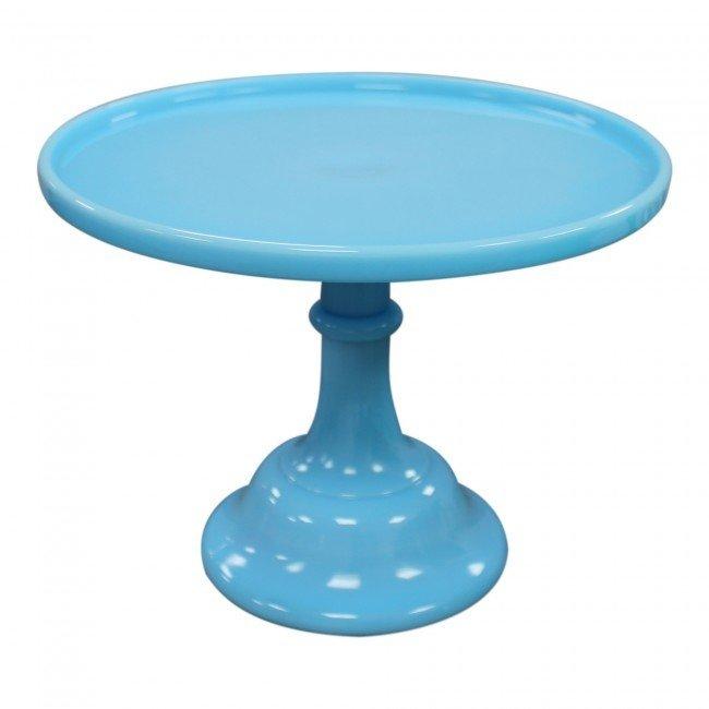 Mosser Glazed Milk Glass Stand -Robin's Egg Blue 10 Inch 25εκ -Γυάλινη βάση