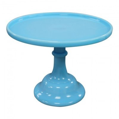 SALE!!! Mosser - Glazed Milk Glass Stand Robin's Egg Blue 25cm - Γυάλινη Βάση - Έντονο Γαλάζιο - 25εκ