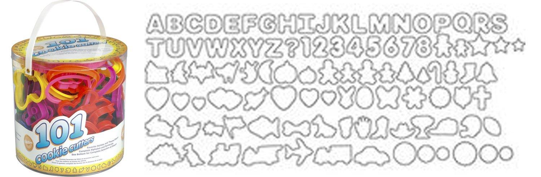 Wilton Tub of 101 Cookie Cutters. Alphabet, animals, Christmas themed & many more! 101 κουπάτ αλφάβητο, ζώα, χριστουγεννιάτικα και πολλά άλλα