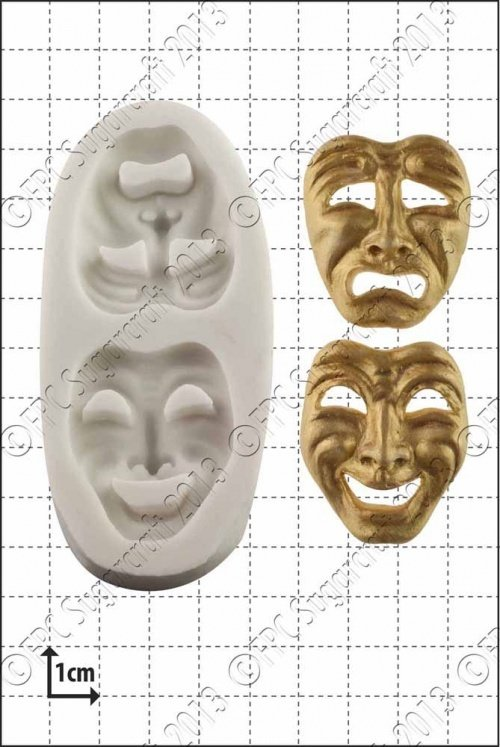 FPC -'Comedy and Tragedy Masks' Silicone Mould