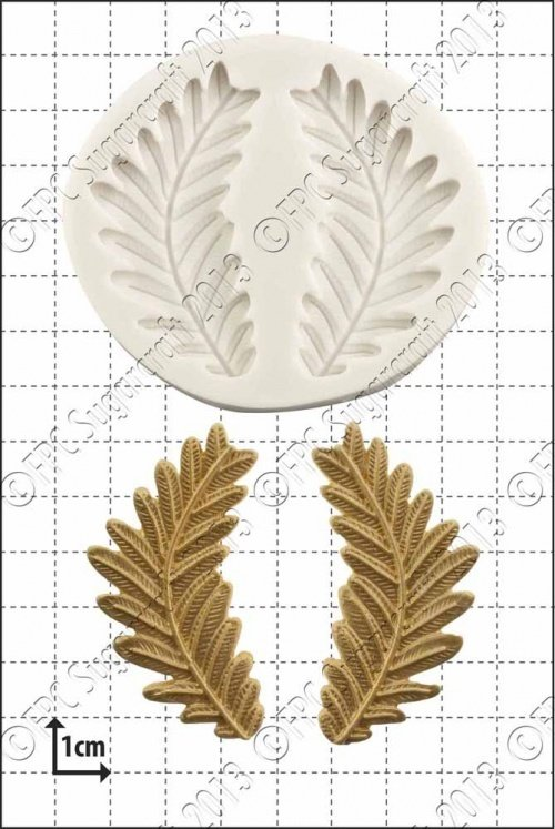 FPC Silicone Mould -FERN FRONDS -Καλούπι Φύλλα Φτέρη