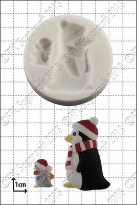 By FPC -Silicone Mould -PENGUINS -Καλούπι Πιγκουίνοι