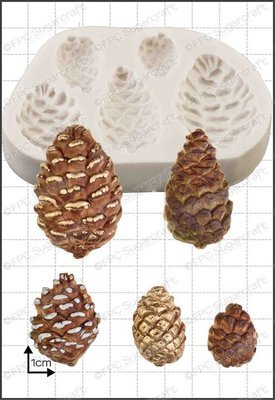 FPC - Pine Cones Silicone Mould - Καλούπι Κουκουνάρια