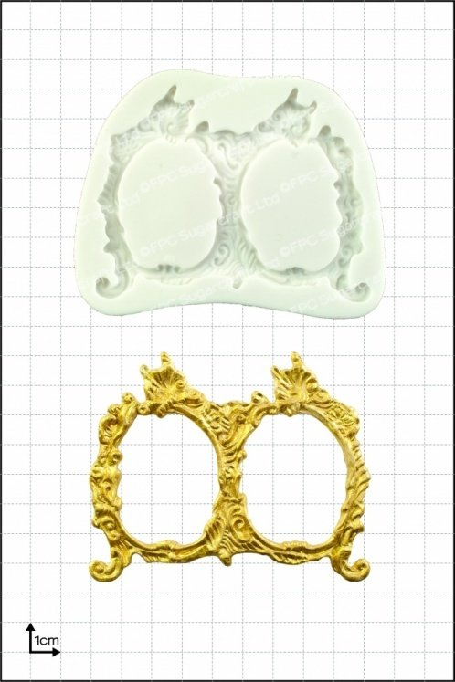 By FPC -Silicone Mould -FRAMES -SMALL DOUBLE -Καλούπι Μικρές Διπλές Κορνίζες