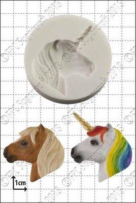 FPC  -'Unicorn or Pony Head' Silicone Mould -Καλούπι 'Μονόκερος/Άλογο