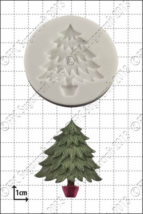 FPC - Xmas Tree Silicone Mould - Καλούπι Χριστουγεννιάτικο Δέντρο