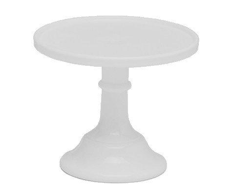 Mosser - Glazed Milk Glass Stand White 15cm - Γυάλινη Βάση - Λευκή - 15εκ