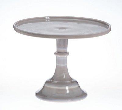 Mosser - Glazed Milk Glass Stand Marble Grey 25cm - Γυάλινη Βάση - Γκρι (Μάρμαρο) - 25εκ