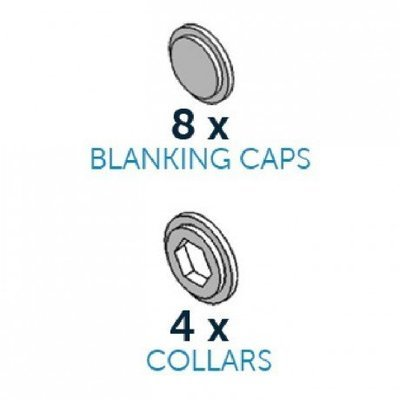 SALE!!! By Cake Frame - Blanking Caps & Collars Pack - Τάπες & Κολάρα για Πλατφόρμα Στήριξης - 12τεμ