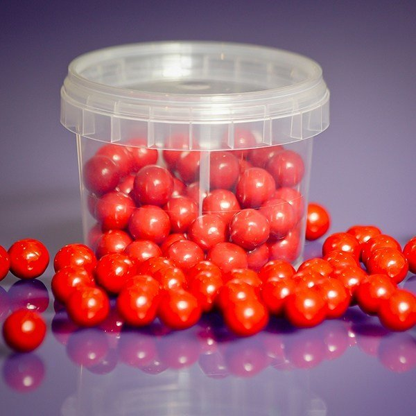 Purple Cupcakes Edible Pearls 10mm -Red -80g