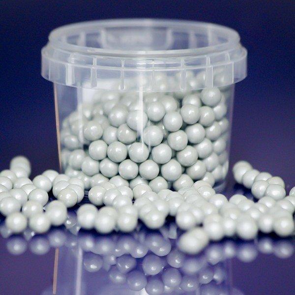 SALE!!! Purple Cupcakes Sugarballs -SILVER 7mm -Ασημένιες Βρώσιμες Πέρλες 90γρ
