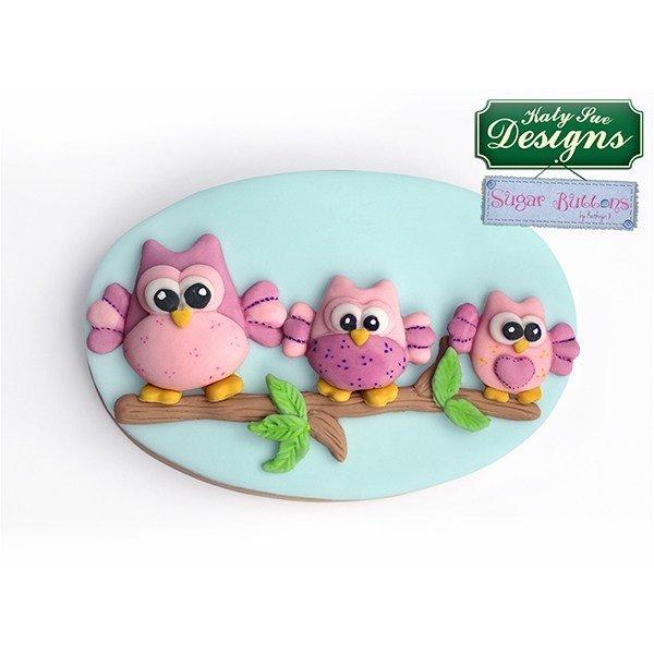 Katy Sue - Mould Sugar Buttons Owls - Καλούπι Κουκουβάγιες