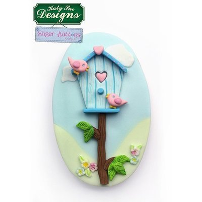 Katy Sue Silicone Mould -Sugar Buttons -BIRDHOUSE -Καλούπι Σπιτάκι Πουλιών