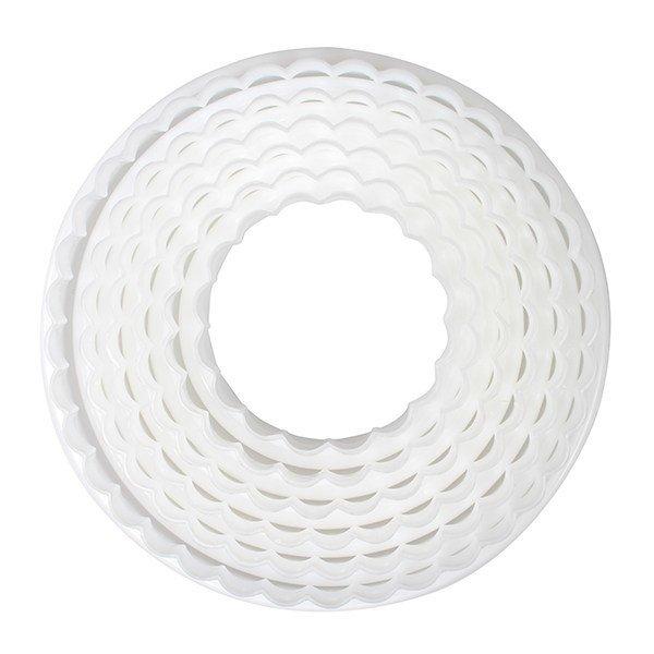 Cake Star Cutters -Set of 6 PLAIN & FLUTED CIRCLES-Κουπάτ Κυματιστοί Κύκλοι 6 Τεμ