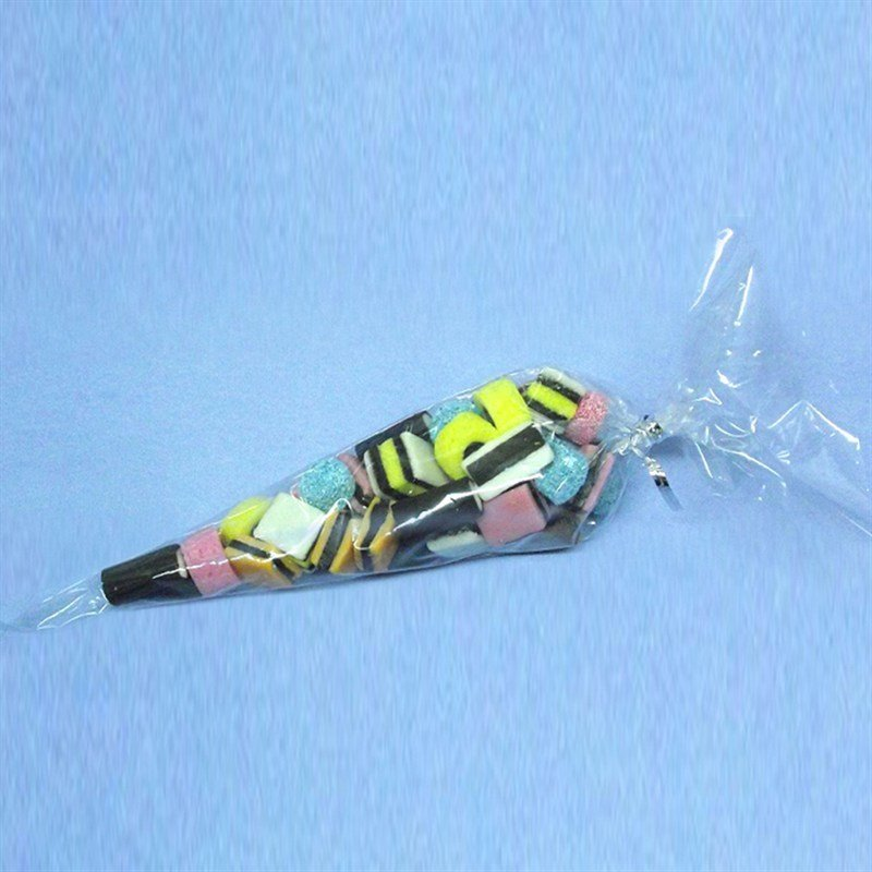 Culpitt Bags -Clear Sweet Cones With Ties -Διαφανα Σακουλακια σε Σχημα Κωνου με Σχοινακι Δεσιματος 50 τεμ