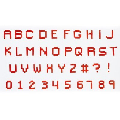 FMM Alphabet Tappit -PIXEL UPPERCASE & Numbers -Κουπάτ Λατινική Αλφάβητο -Μεγάλα Γράμματα & Αριθμοί