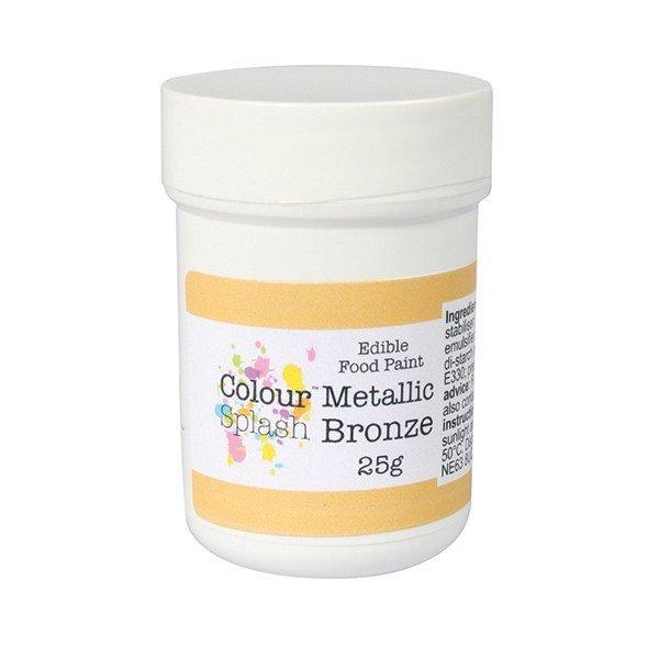 Colour Splash - Edible Paint Metallic Bronze - Βρώσιμο Χρώμα Ζωγραφικής - Μεταλλικό Μπρονζέ - 25γρ