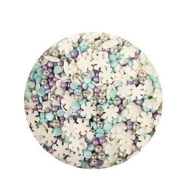 Purple Cupcakes Sprinkle Mix -SNOWSTORM MIX -Ανάμεικτα Κονφετί/Πέρλες Χρώματα Χιονοθύελλας 100γρ