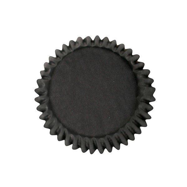 Cake Star Cupcake Cases -PLAIN BLACK -Θήκες Ψησίματος -Μαύρο 54 τεμ