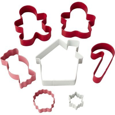 Wilton Set of 7 Candy Shop Christmas Cutters 7 τεμάχια κουπάτ χριστουγεννιάτικο θέμα 3 έως 8εκ