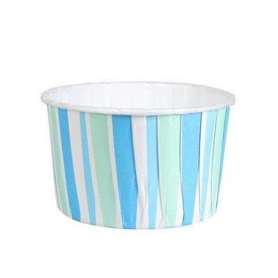 Culpitt Cupcake Baking Cups -STRIPED BLUE -Κυπελάκια Ψησίματος Μπλε Ριγέ 24 τεμ
