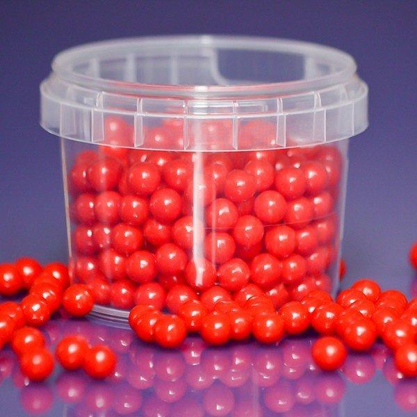 Purple Cupcakes Sugarballs -RED PEARL 7mm -Κόκκινες Βρώσμιες Πέρλες 90γρ