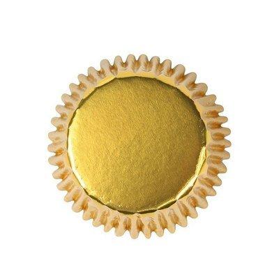 Culpitt BULK Cupcake Cases -METALLIC GOLD -Αλουμινένιες Θήκες Ψησίματος -Μεταλλικό Χρυσό 495 τεμ