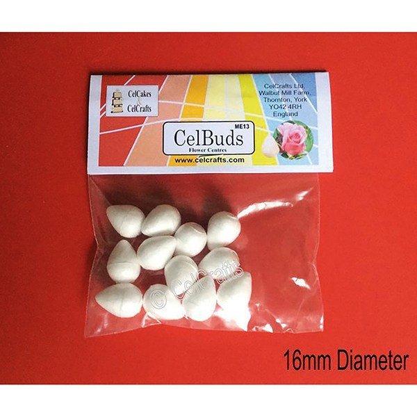 CelBuds Polystyrene Flower Buds 16mm -Μπουμπούκια Λουλουδιών Πολυστερίνης 12 τεμ
