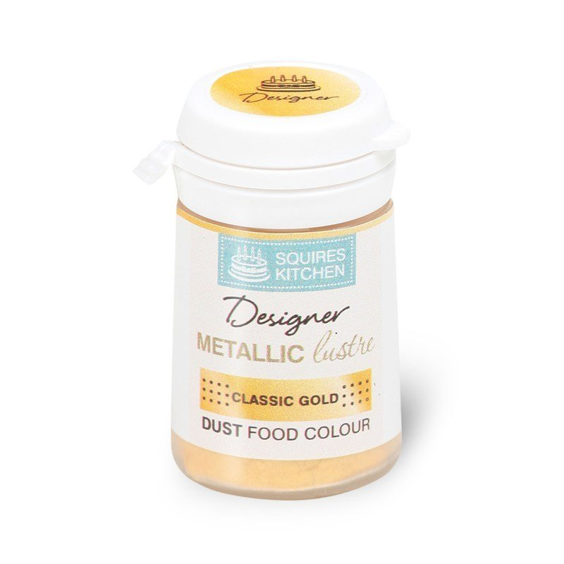 Squires -Edible Dust -Metallic Lustre CLASSIC GOLD 5.5g βρώσιμη σκόνη μεταλλικό λαμπερό κλασσικό χρυσό