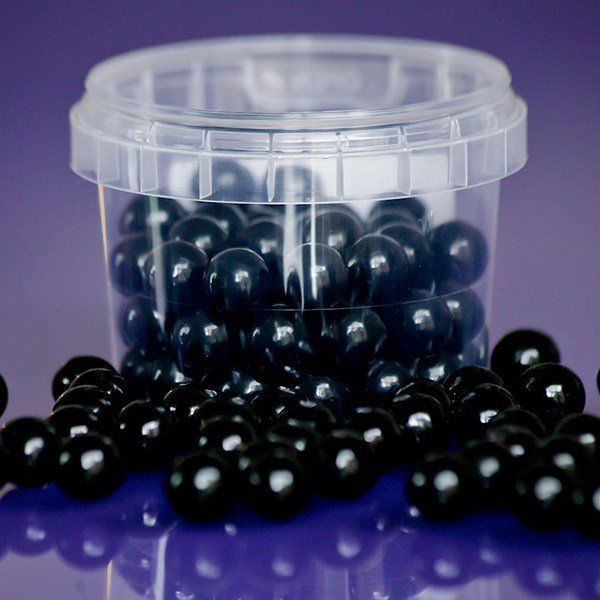 Purple Cupcakes - Black Edible Pearls - Μαύρες Βρώσιμες Πέρλες - 10χιλ - 80γρ